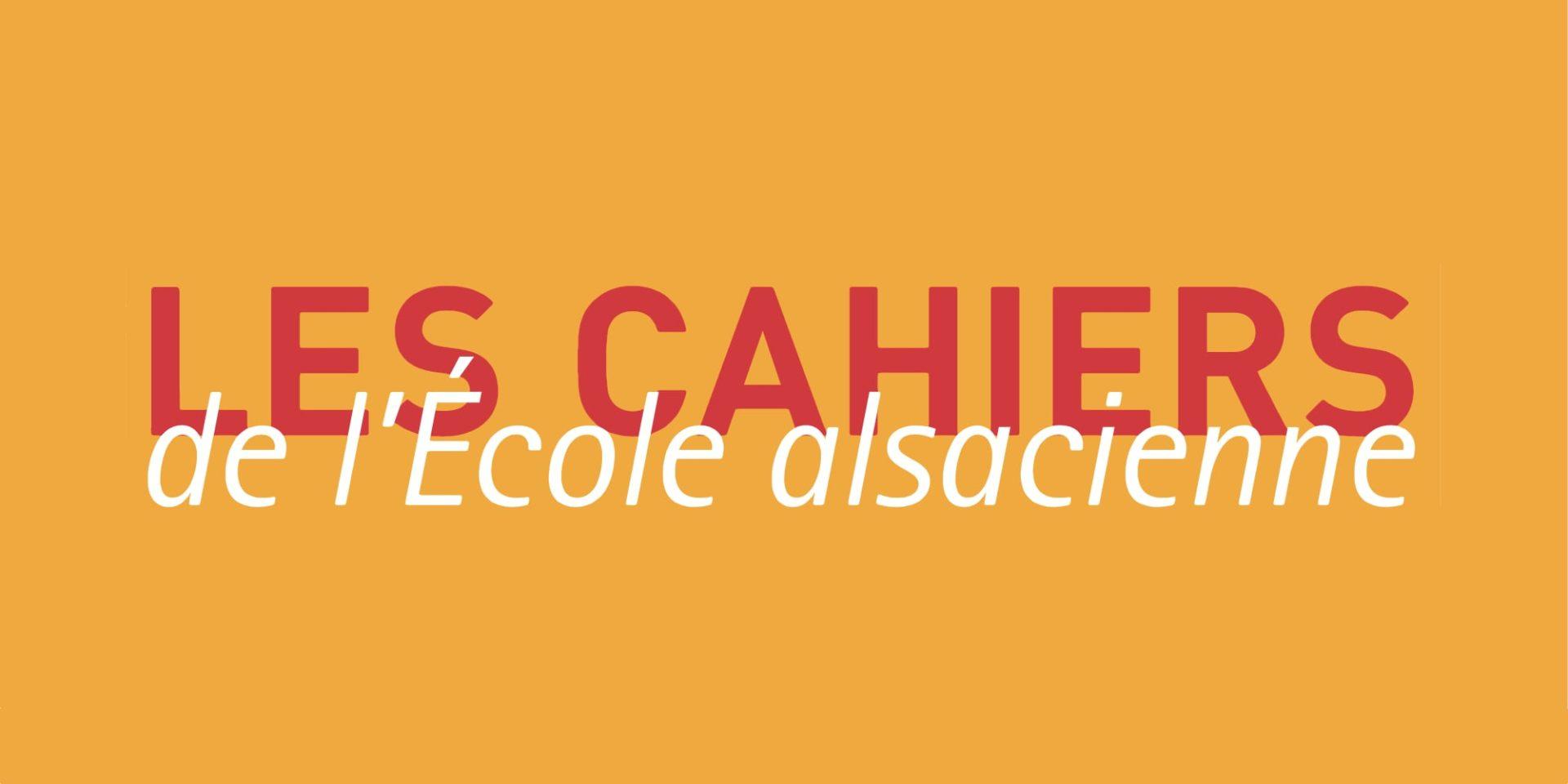Les Cahiers de l'École alsacienne